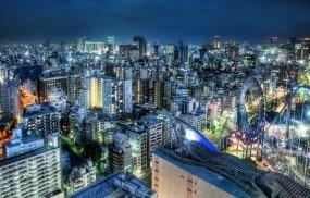 Обои Tokyo at Dusk: Небоскрёбы, Мегаполис, Япония, Токио, Прочие города