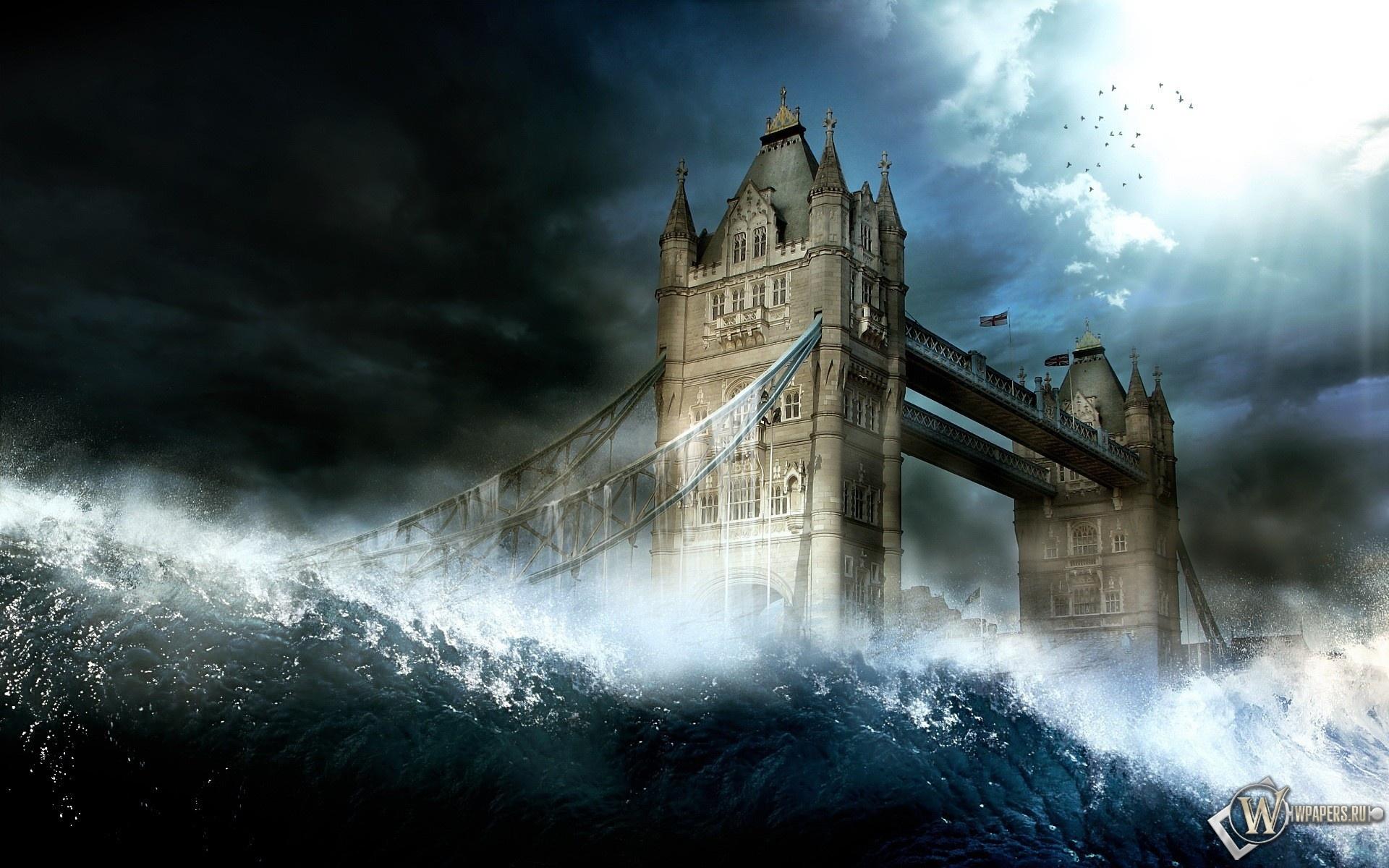 Шторм в Лондоне 1920x1200