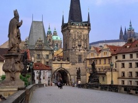 Обои Карлов мост в Праге: Мост, Чехия, Прага, Прочие города