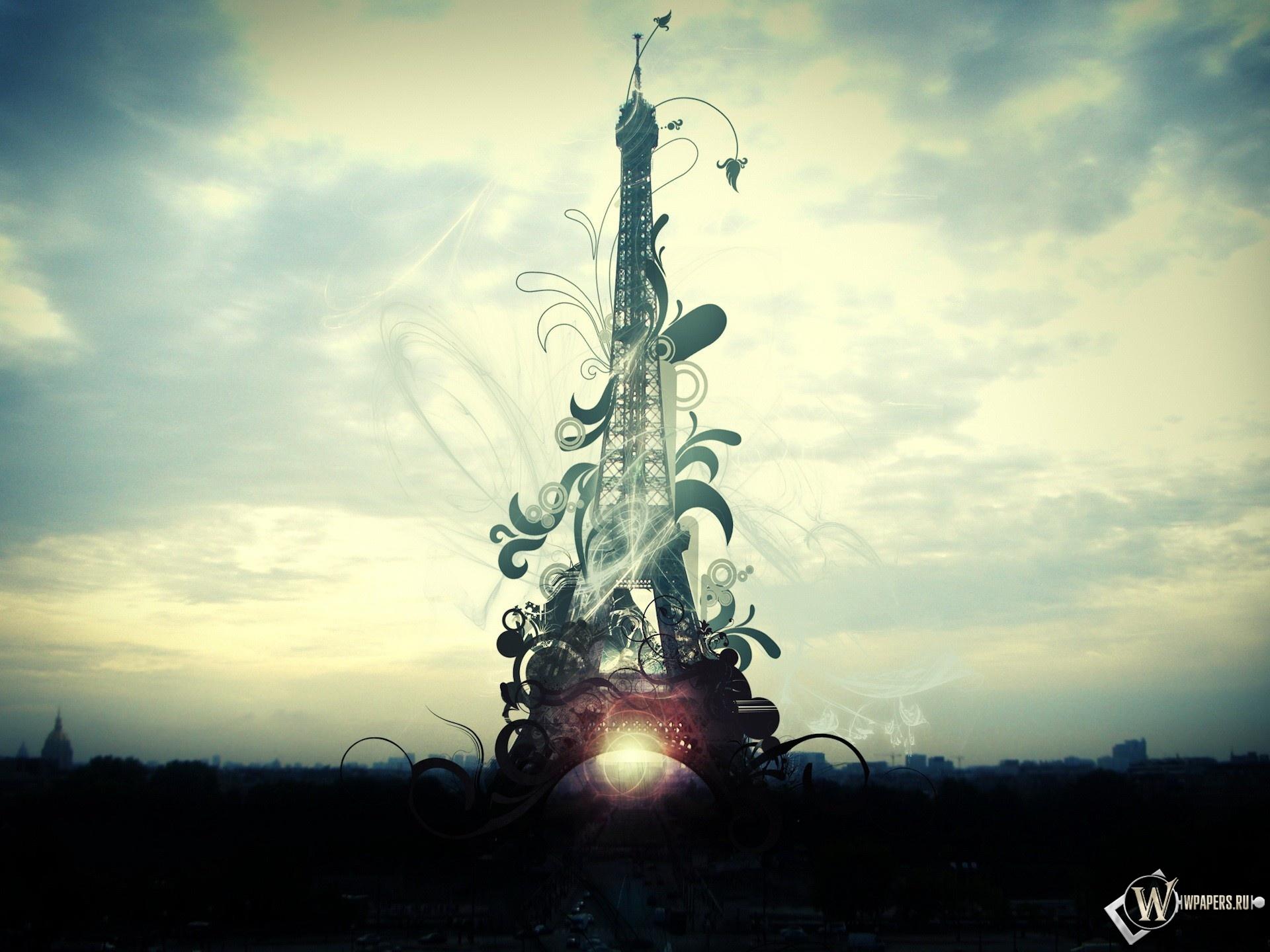 Фантазийная Эйфелева башня 1920x1440