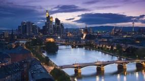 Обои Франкфурт Германия: Город, Мост, Ночь, Здания, Прочие города
