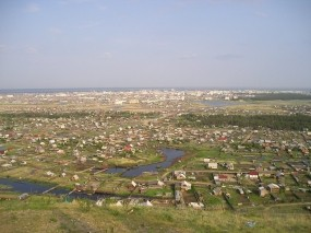 Обои Якутск Республика Саха: Город, Деревья, Трава, Дома, Прочие города