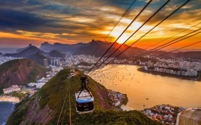 Обои Рио-де-Жанейро: Город, Закат, Рио-де-Жанейро, Прочие города