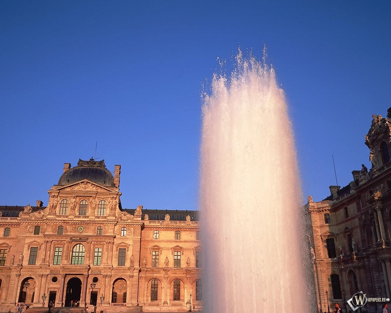 Фонтан в париже 1280x1024