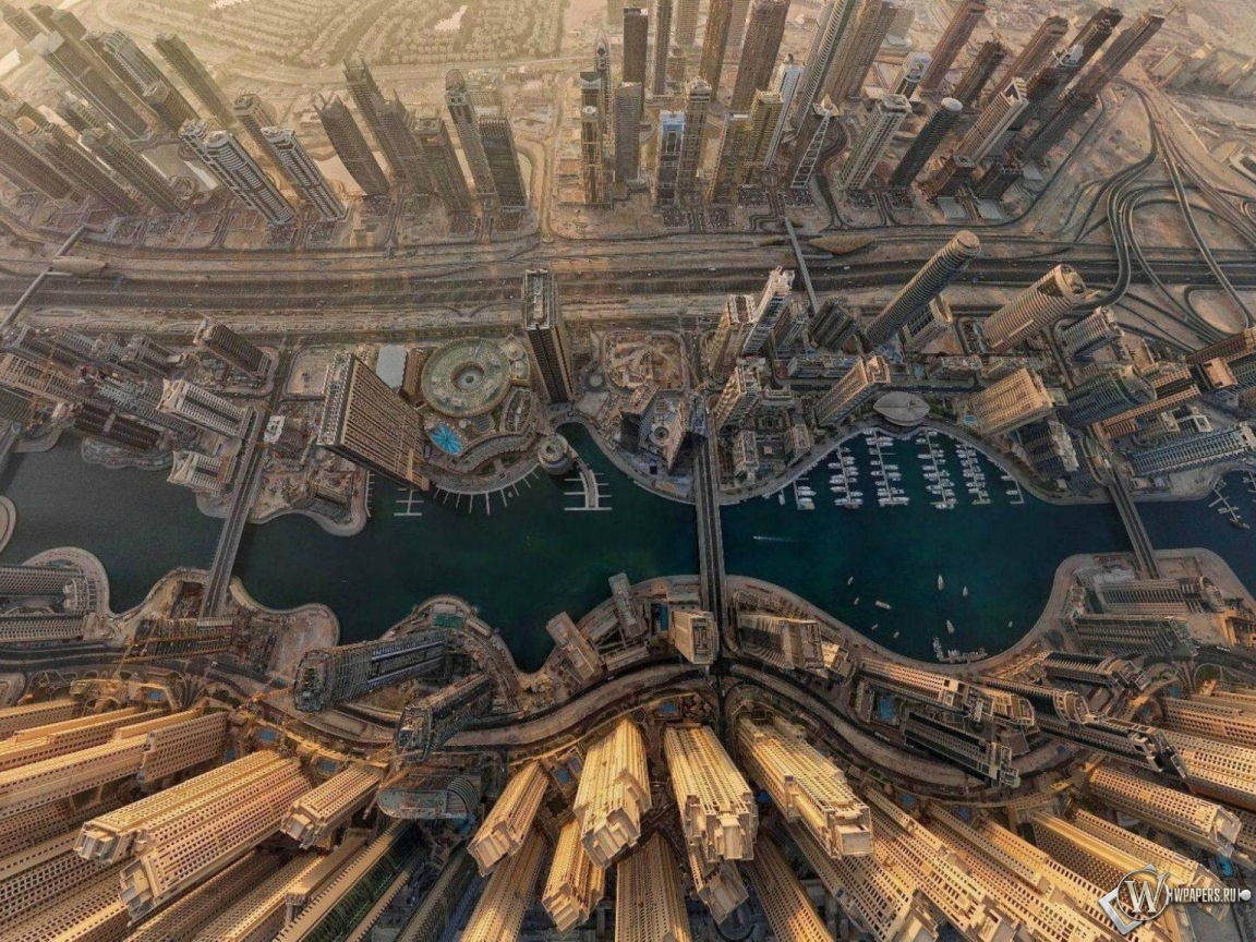 Dubai  вид сверху 1152x864