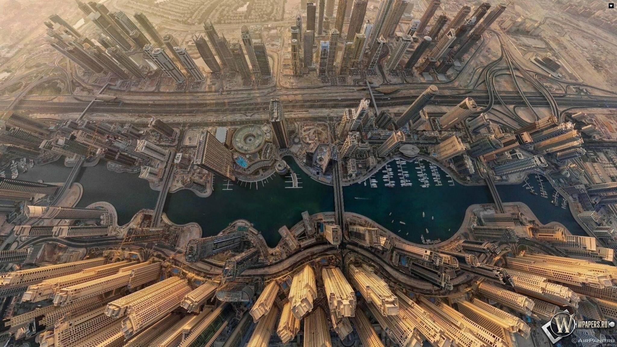 Dubai  вид сверху 2048x1152
