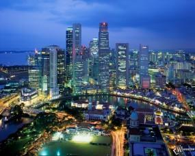 Обои Aerial View - Singapore: , Прочие города