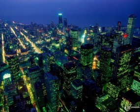 Обои After Dark - Chicago - Illinois: , Прочие города