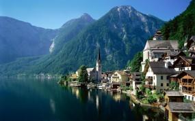 Обои Гальштат, Австрия: Река, Австрия, Гальштат, Прочие города