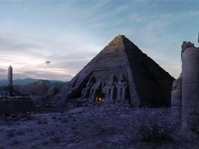 Обои Пирамида в Египте: Пирамида, Египет, Дирижабль, Прочие города