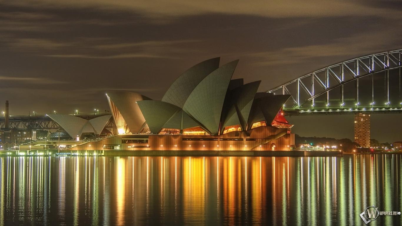 Театр в Сиднее 1366x768