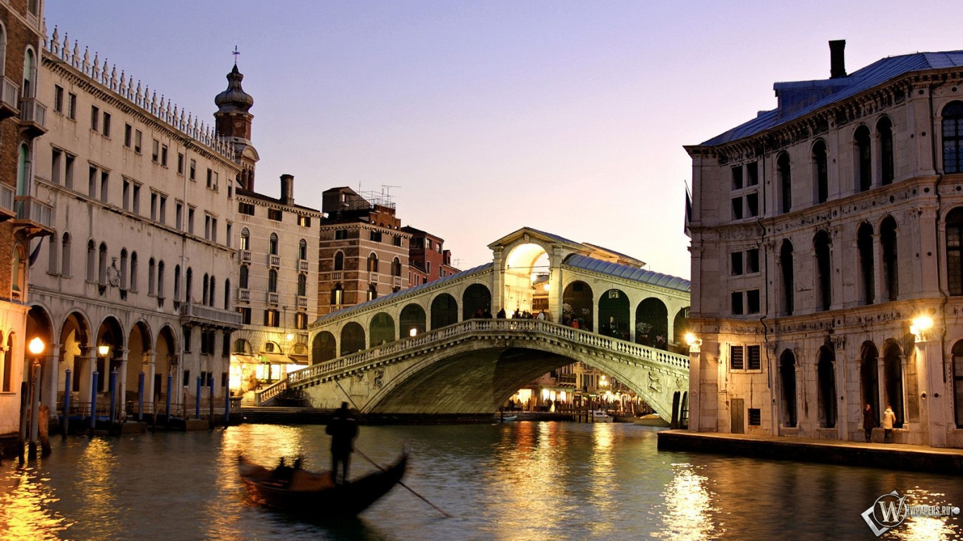 Вечерняя Венеция 1366x768