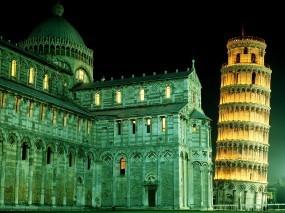Обои Башня Пиза в Италии: Италия, Башня, Пиза, Прочие города