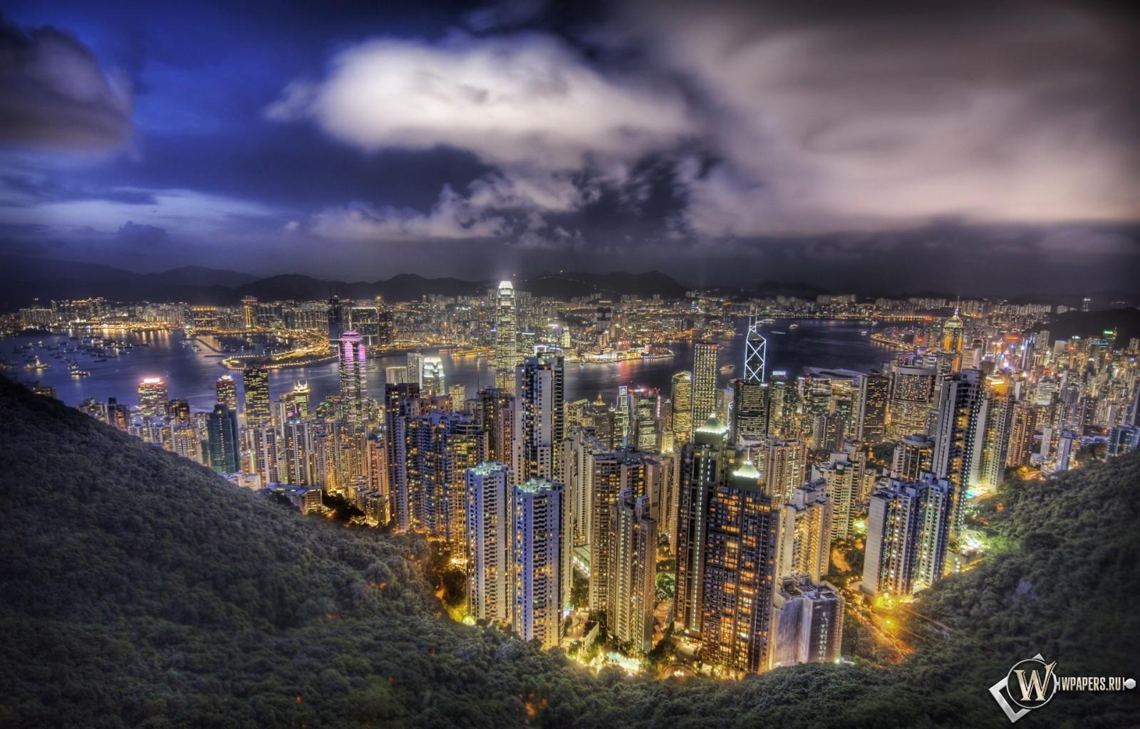 Небоскребы в Гонконге 1600x1024