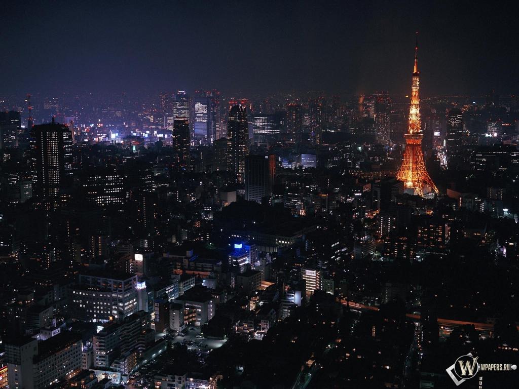 Токио ночью 1024x768