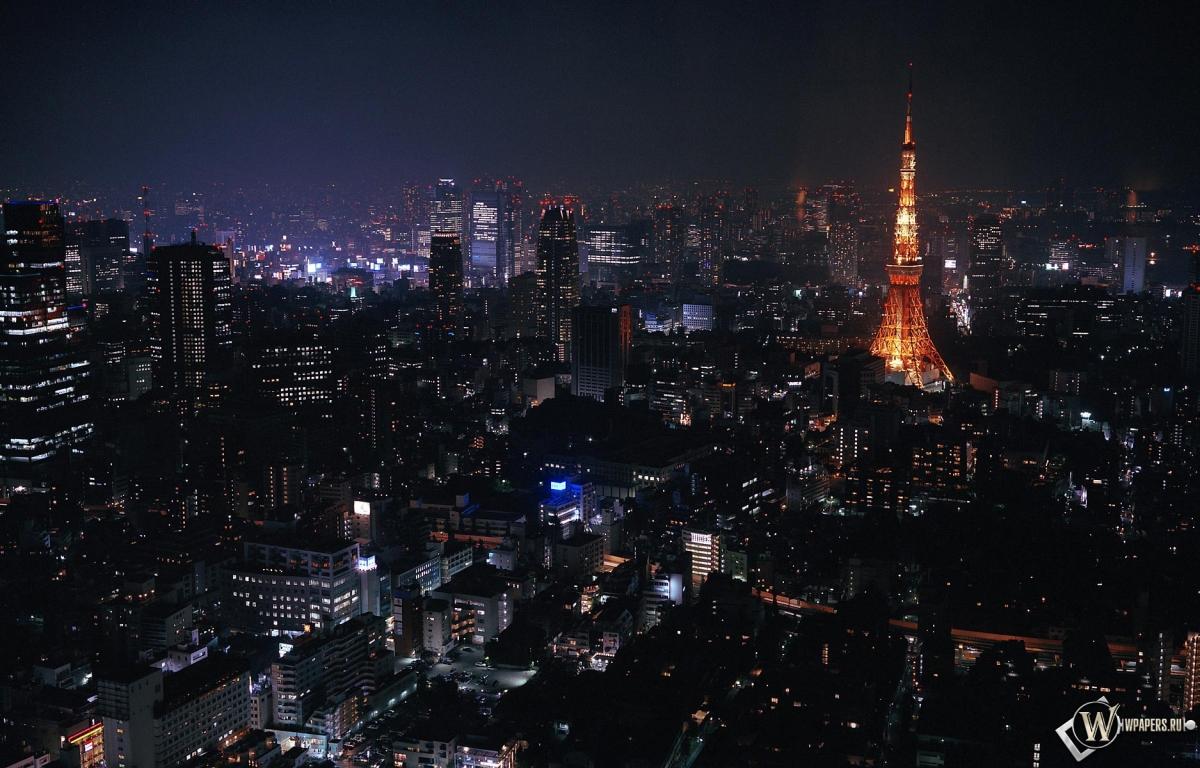 Токио ночью 1200x768