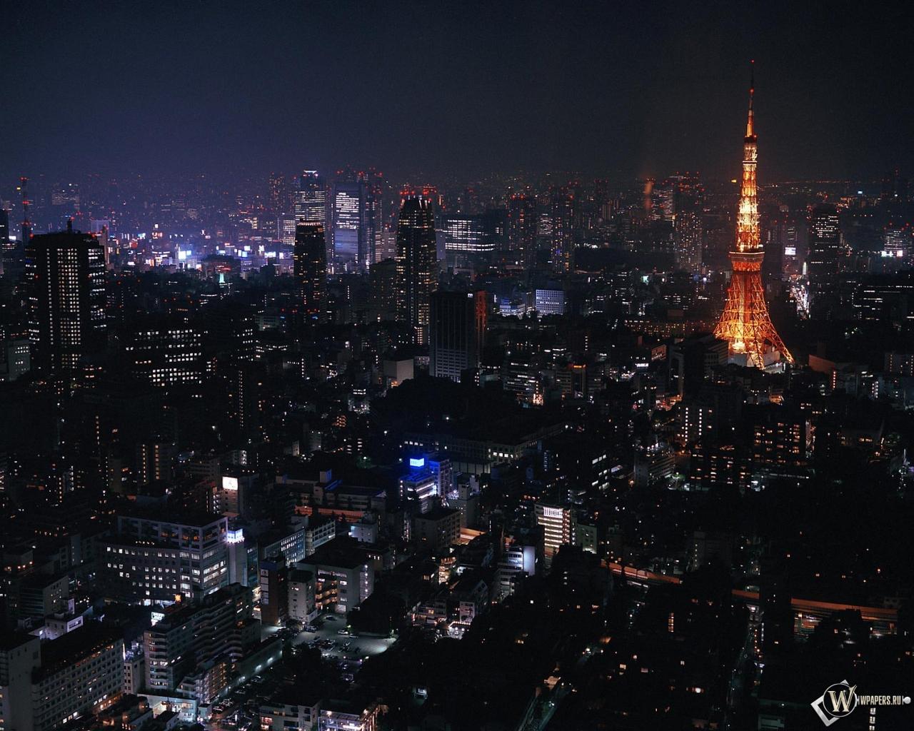Токио ночью 1280x1024