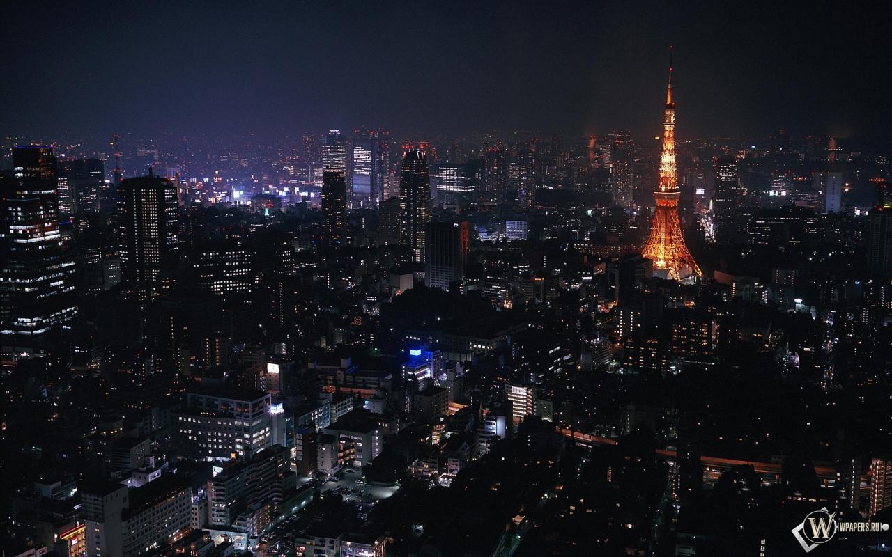 Токио ночью 1280x800