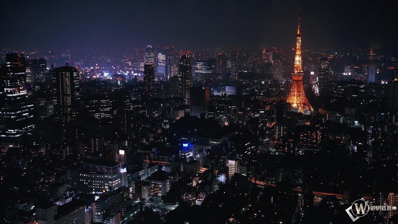 Токио ночью 1600x900