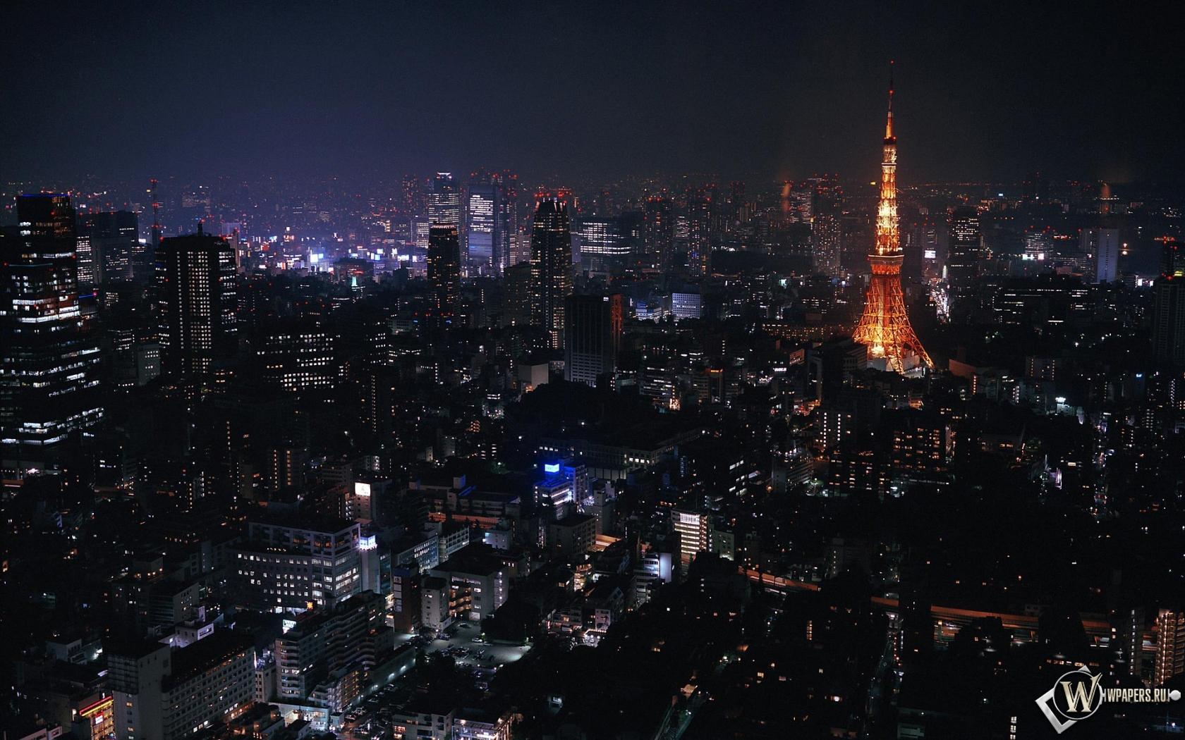 Токио ночью 1680x1050