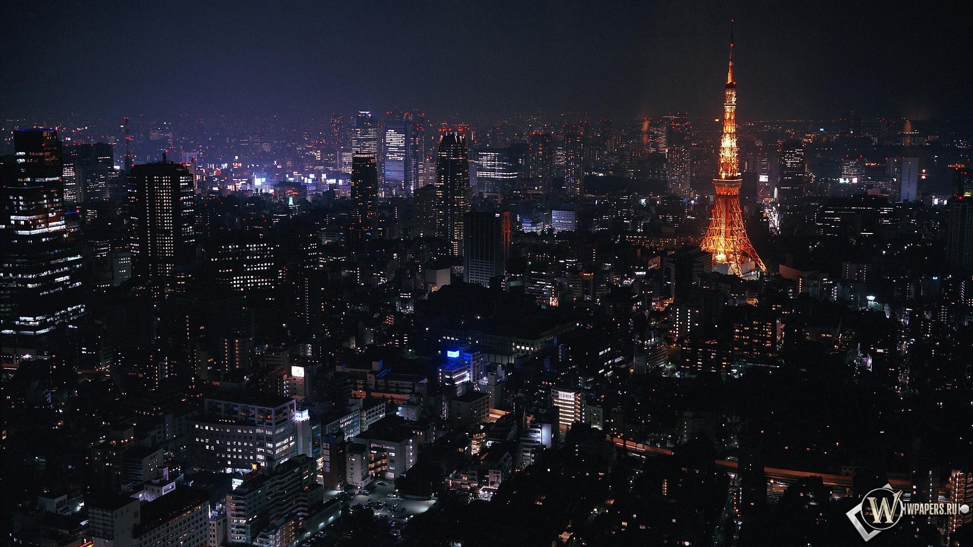 Токио ночью 1920x1080