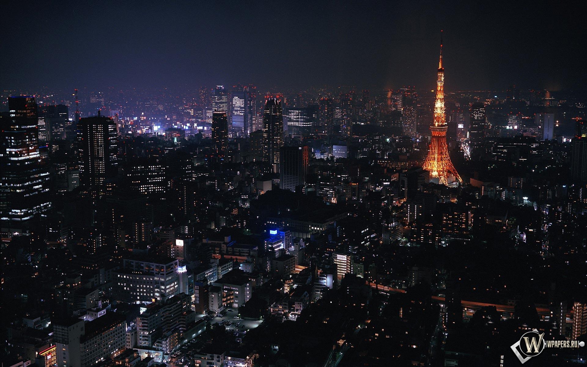 Токио ночью 1920x1200