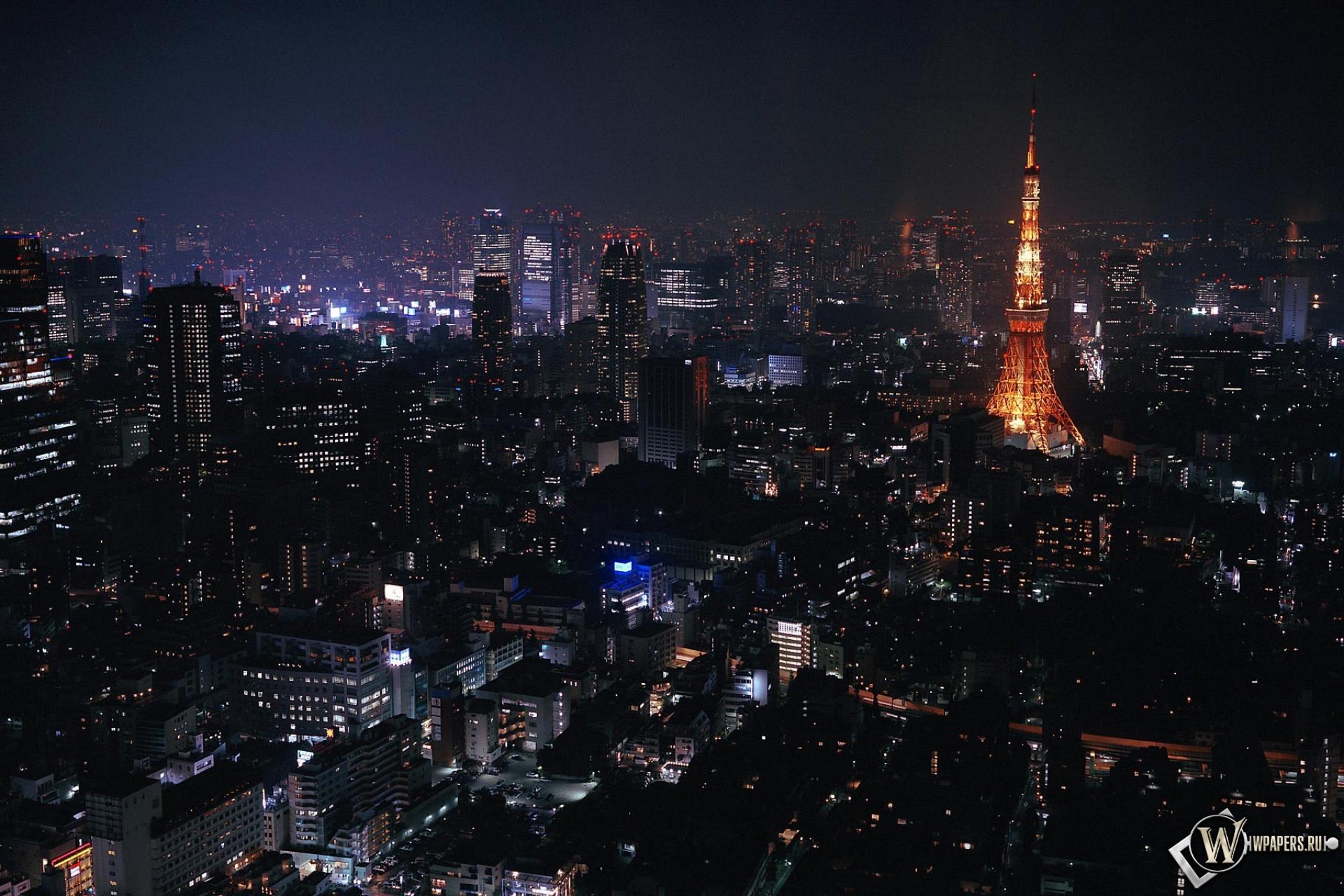 Токио ночью 1920x1280