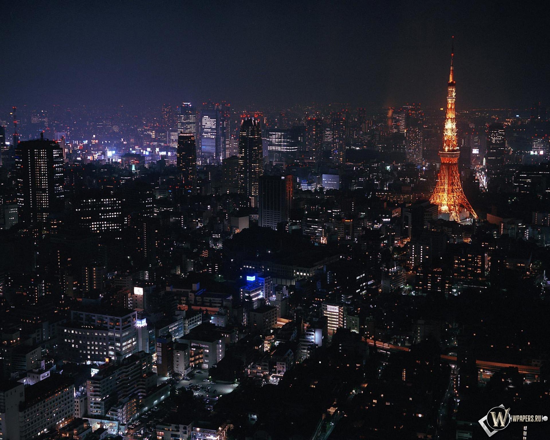 Токио ночью 1920x1536