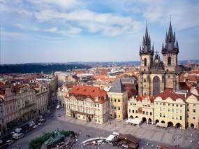 Обои Old Town Square в Праге: Чехия, Прага, Площадь, Прочие города