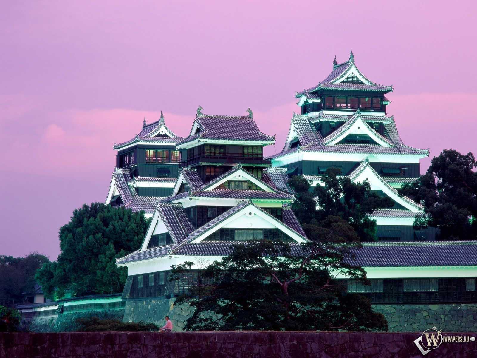 Замок Кумамото в Японии 1600x1200