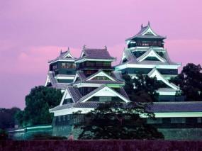 Обои Замок Кумамото в Японии: Замок, Япония, Кумамото, Прочие города