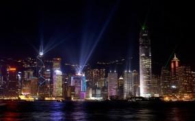 Обои Ночьной Гонконг: Ночь, Дома, Гонконг, Прочие города
