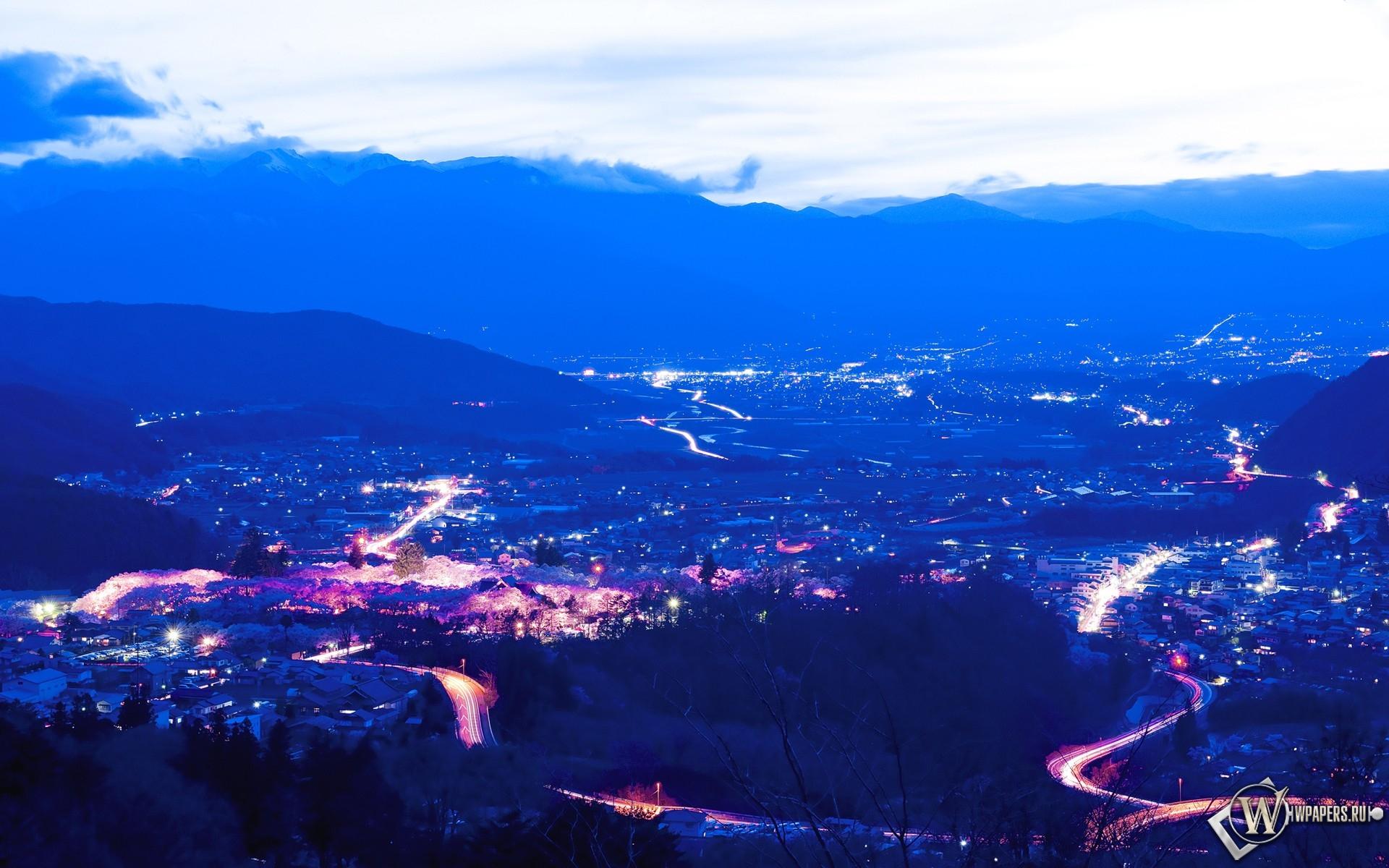 Город в горах 1920x1200