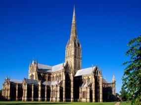 Обои Солсбери: Собор, Англия, Солсбери, Прочие города