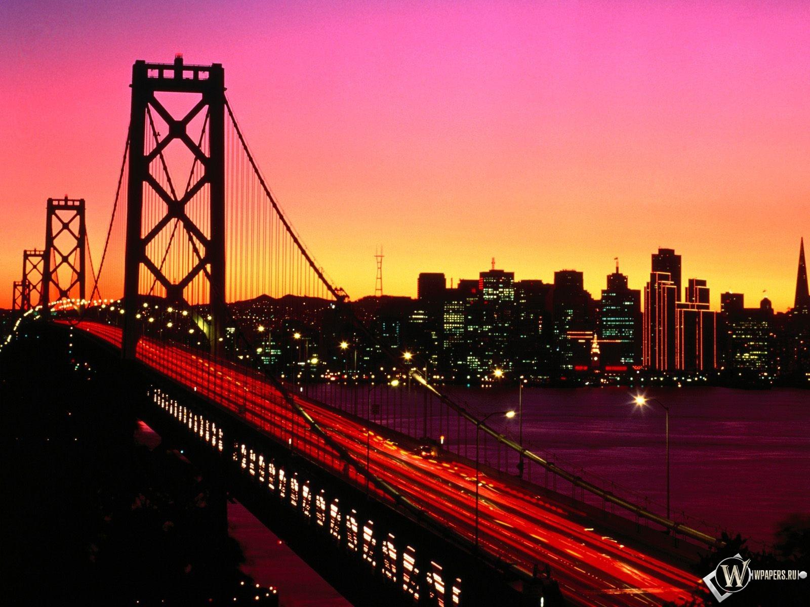 Мост на закате 1600x1200