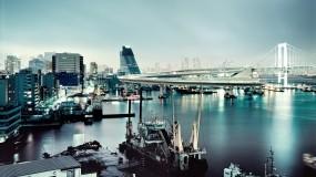 Обои Япония: Вода, Мост, Япония, Корабль, Прочие города