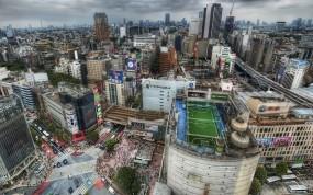 Обои Tokyo: Япония, Токио, Машины, Футбольное поле, Прочие города