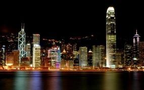 Обои Hong Kong ночью: Город, Ночь, Небо, Гонконг, Hong Kong, Прочие города