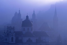 Обои Зальцбург: Туман, Австрия, Зальцбург, Прочие города