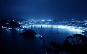 Обои Город будущего: Город, Ночь, Освещение, Прочие города