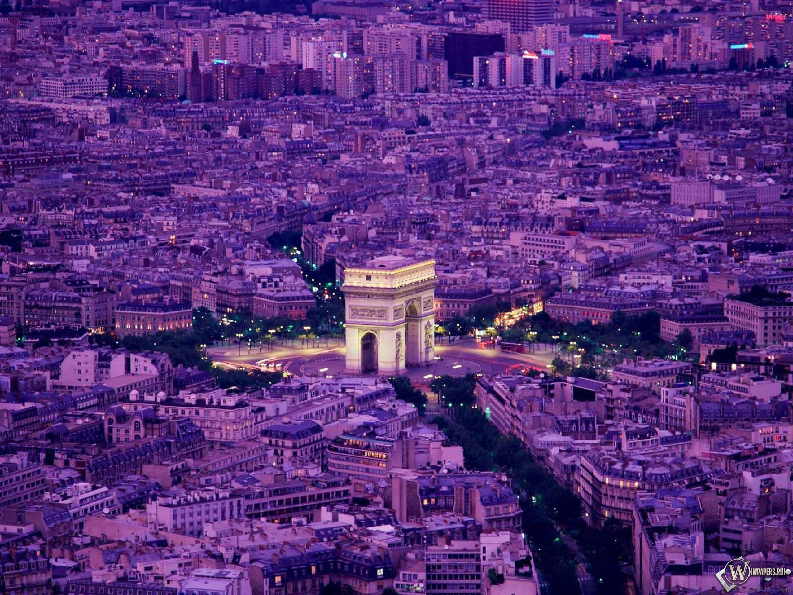 Вечерний Париж 2560x1920