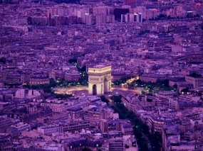 Обои Вечерний Париж: Франция, Париж, Париж