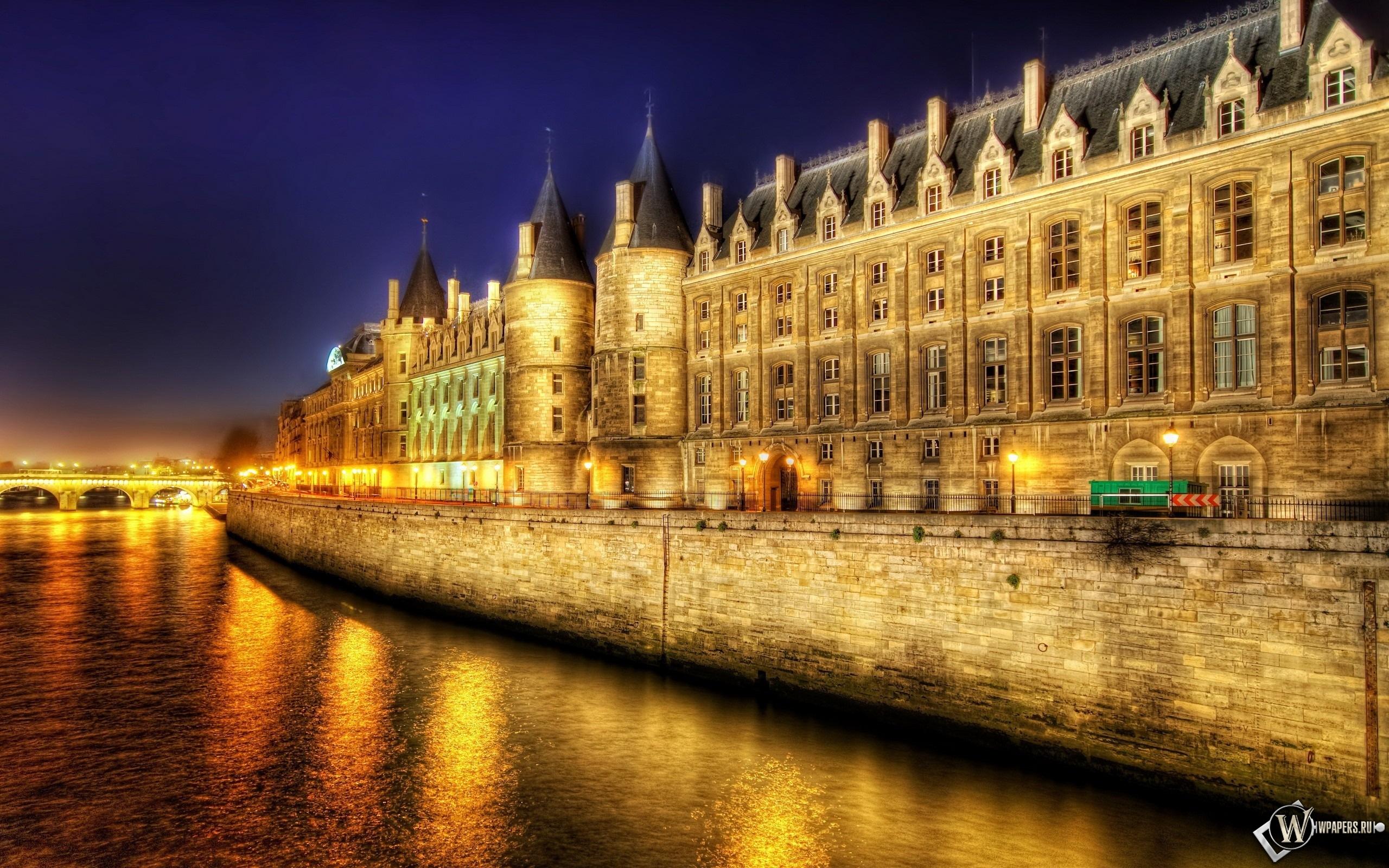 Париж ночью 2560x1600