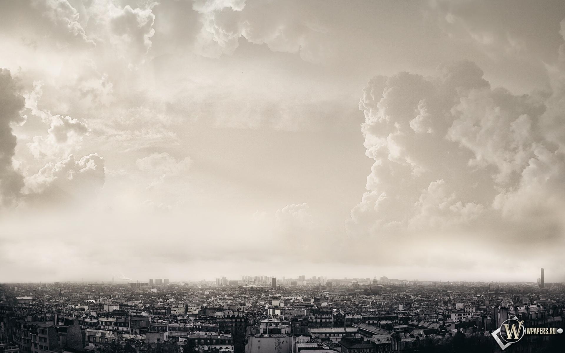 Облака над Парижем 1920x1200