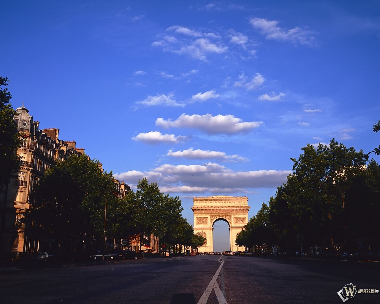Триумфальная арка - Париж 1280x1024