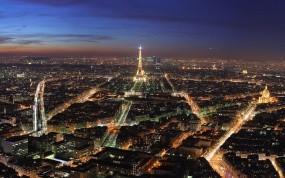 Обои Огни Парижа: Огни, Эйфелева башня, Париж