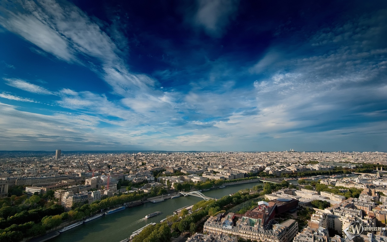 Paris from the sky 1280x800