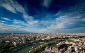Обои Paris from the sky: Город, Панорама, Париж, Париж