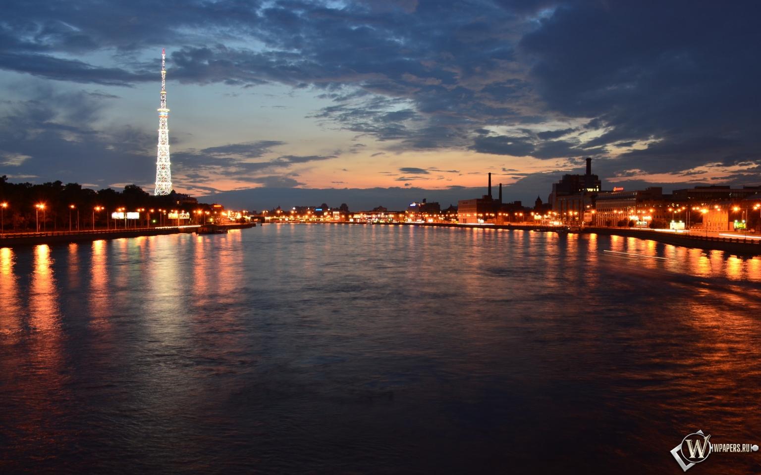 Мост через Неву 1536x960