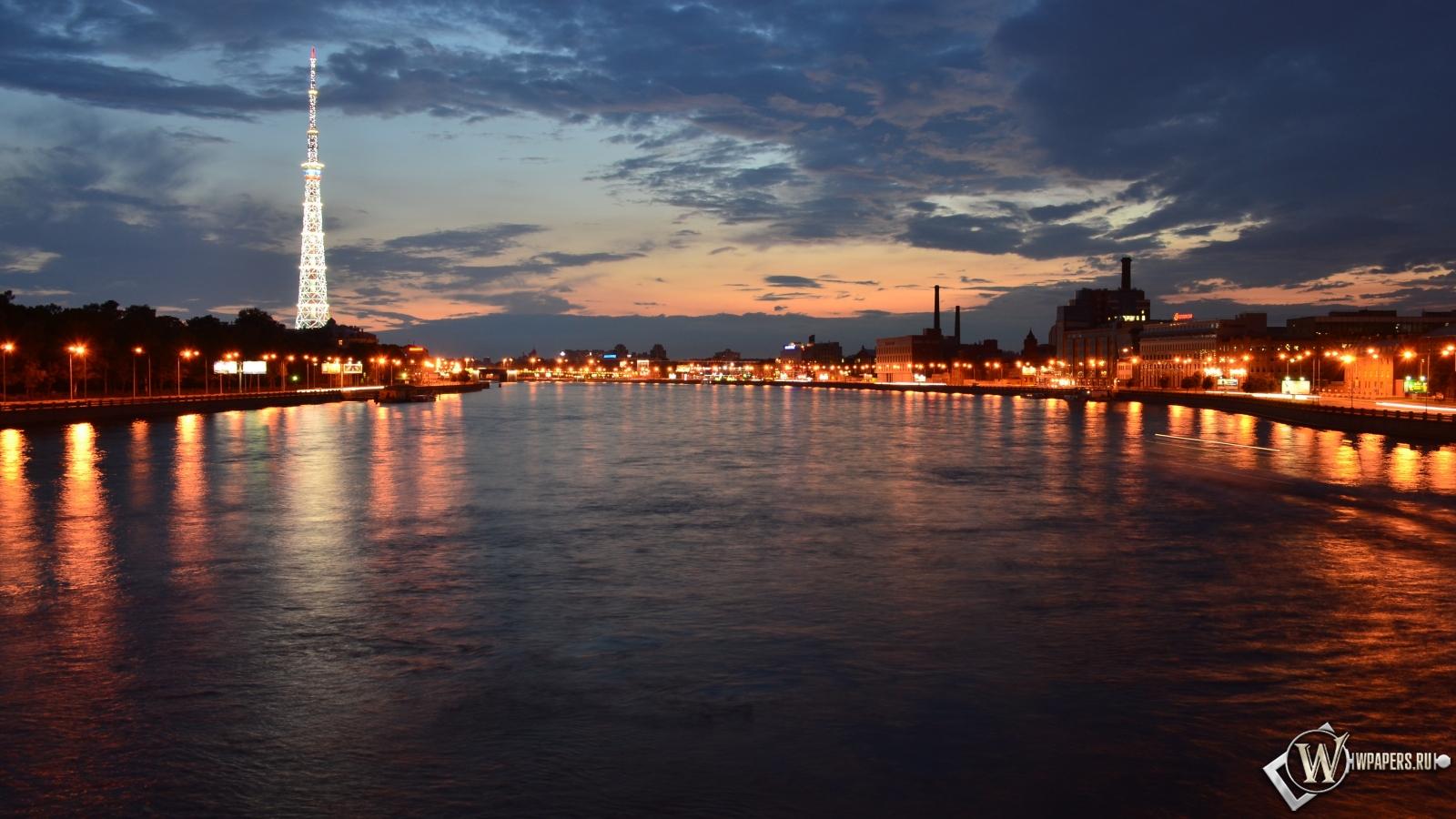 Мост через Неву 1600x900